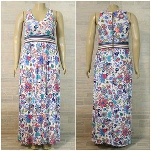 Milly Design Nation Floral Paisley Maxi Dress